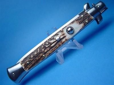 "Frank Beltrame 11"" Stag Horn Dagger Switchblade"