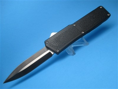 """8"""" Lightning OTF D/E Automatic with Black Handle & D/E Two-Tone Blade"""