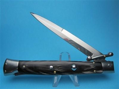 "Frank Beltrame 11""  Buffalo Horn Bayonet Swinguard Switchblade"
