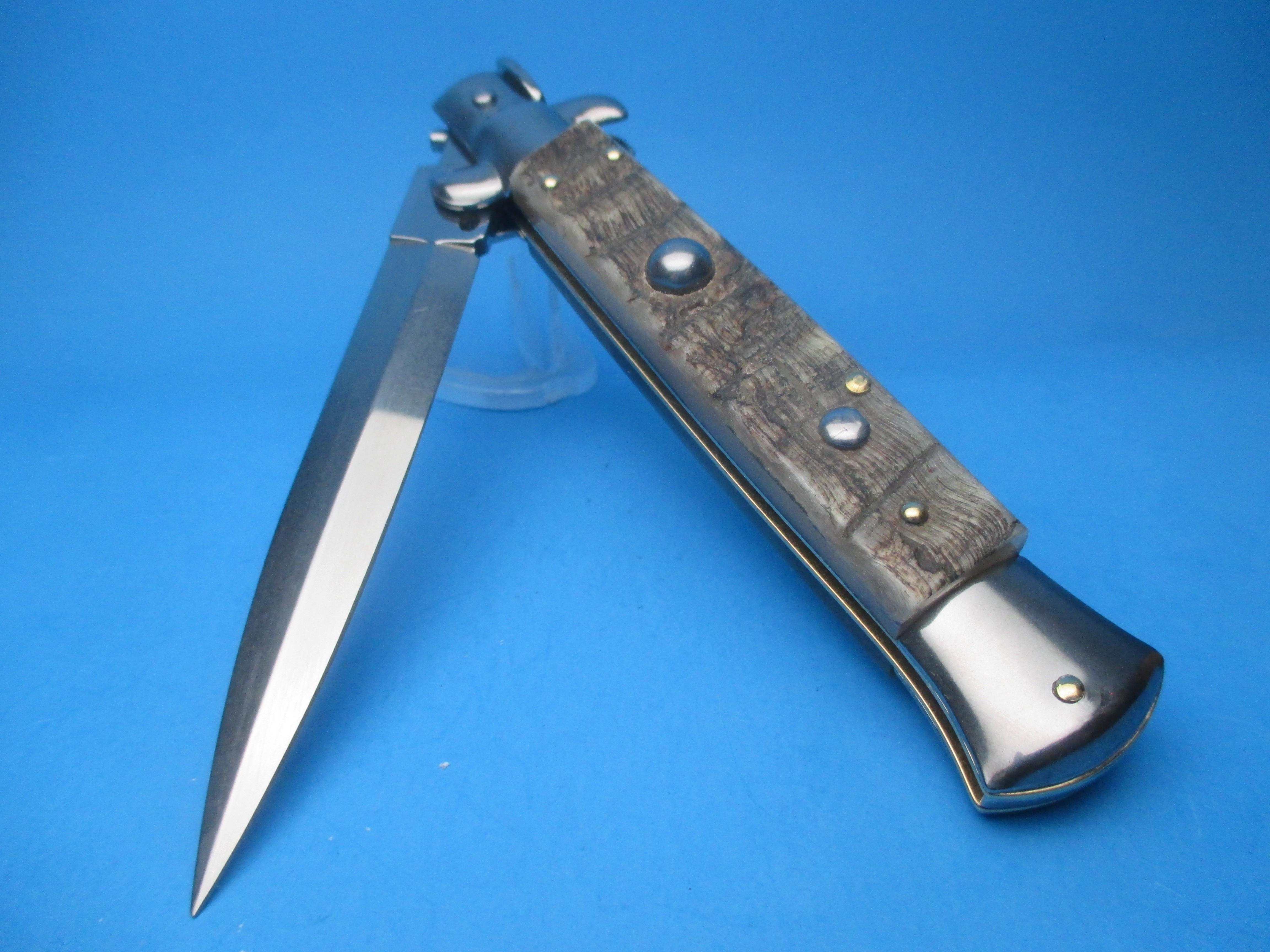 "Frank Beltrame 9"" Rams Horn Dagger Blade Switchblade Knife"