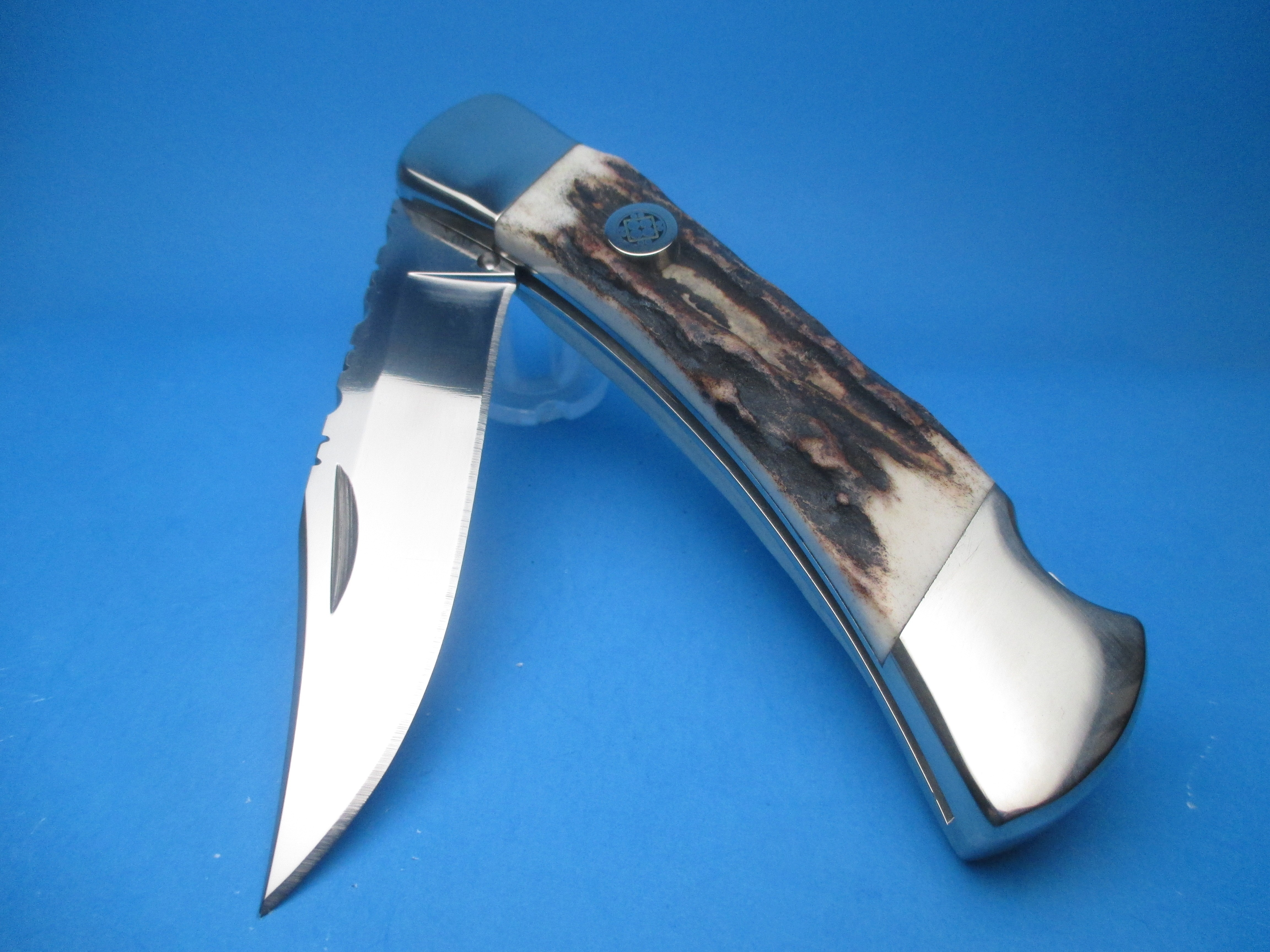 Custom Buck Stag 110 Automatic Conversion Knife