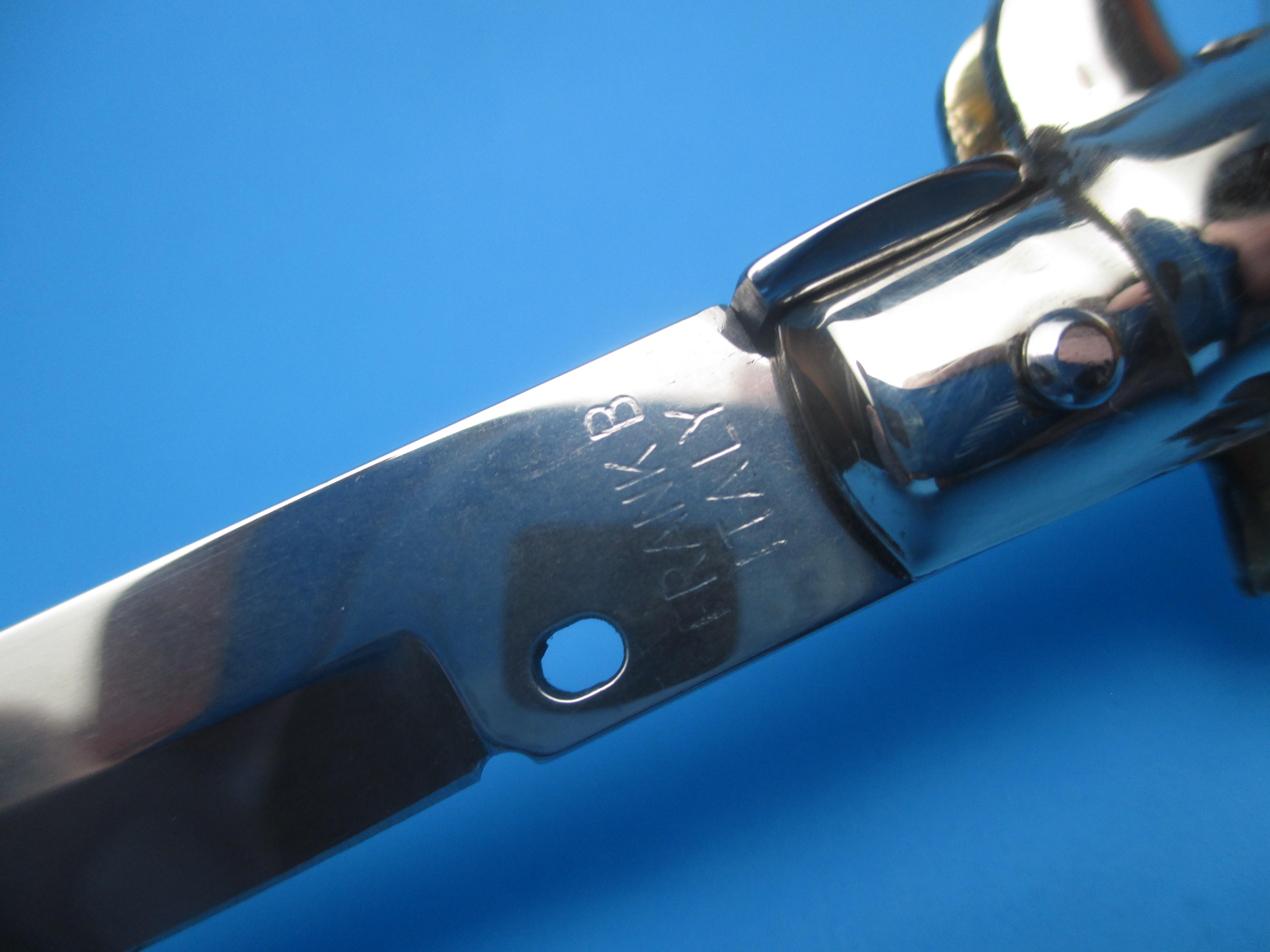 "Frank Beltrame 11"" Ebonywood Red Dot Dagger Picklock Switchblade"